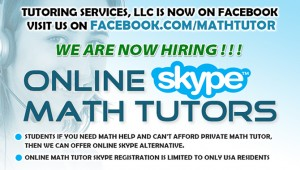 Facebook.com/MathTutor