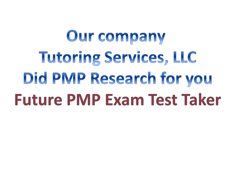 pmp exam research for future test takers