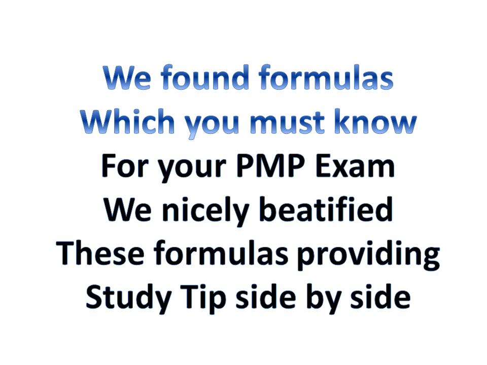 multiple ways to get help for pmp using formulas