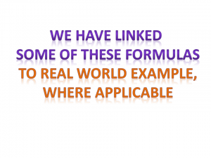 links to pmp formulas