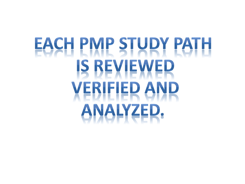 each pmp study path verified and analyzed