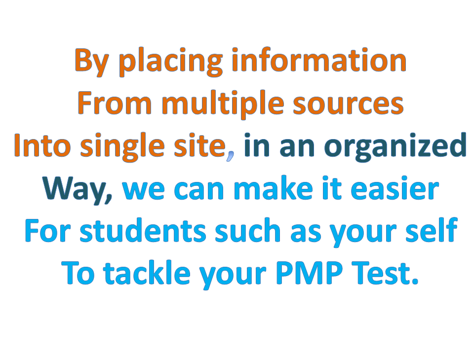 multiple ways to study in organized way for pmp exam