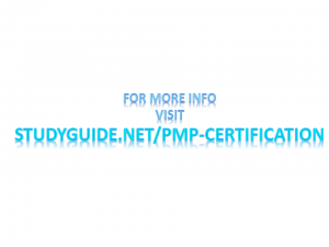 study guide pmp cert