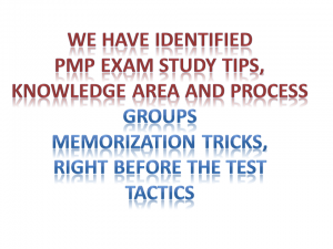 study tips for pmp exam, knowledge are and process maps