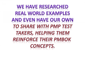 pmp real world examples