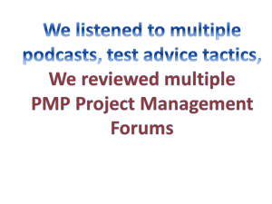 pmp podcasts and test advice tactics